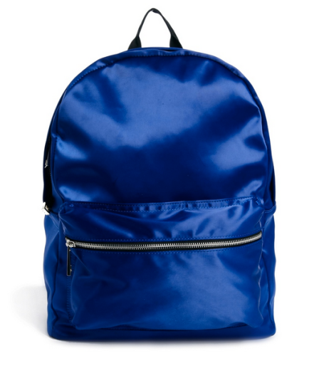 Blue Satin Backpack-NRoH