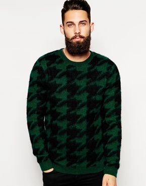 houndstooth mohair mens