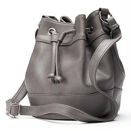 gray bucket bag