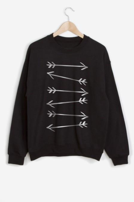 arrow sweatshirt nroh